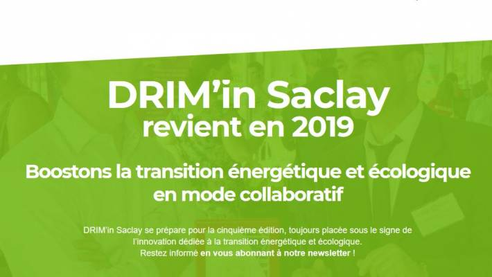 16 et 17 avril : Drim'In Saclay, une convention d'open innovation dédiée à la transition énergétique