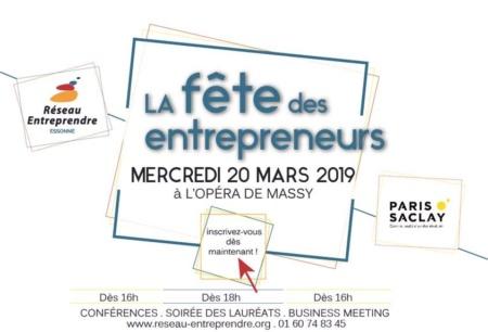 Mars 2019 : Participez à la fête des lauréats du réseau Entreprendre Essonne !
